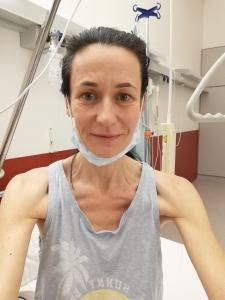 Im Krankenhaus am Tag der Entlassung
